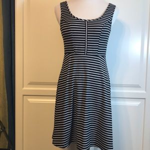 Xhilatation Mini A Line Striped Sleeveless Dress